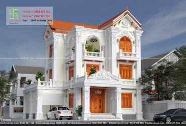 Biệt thự mái thái tân cổ điển đẹp đẳng cấp BT 712