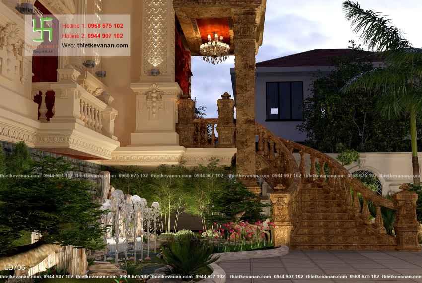 Thiết kế lâu đài đồ sộ và xa hoa tại Vĩnh Phúc 70713