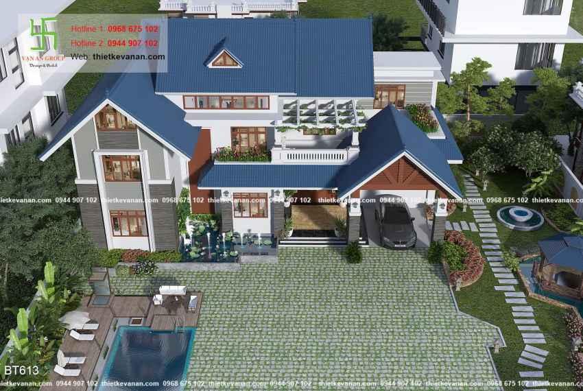 Biệt thự sân vườn đẳng cấp như resort nghỉ dưỡng tại Phú Yên 6132