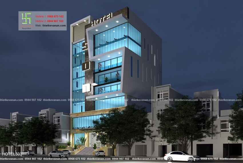 Thiết kế khách sạn 1 sao hiện đại đẹp tại Quảng Ninh HOTEL 5036