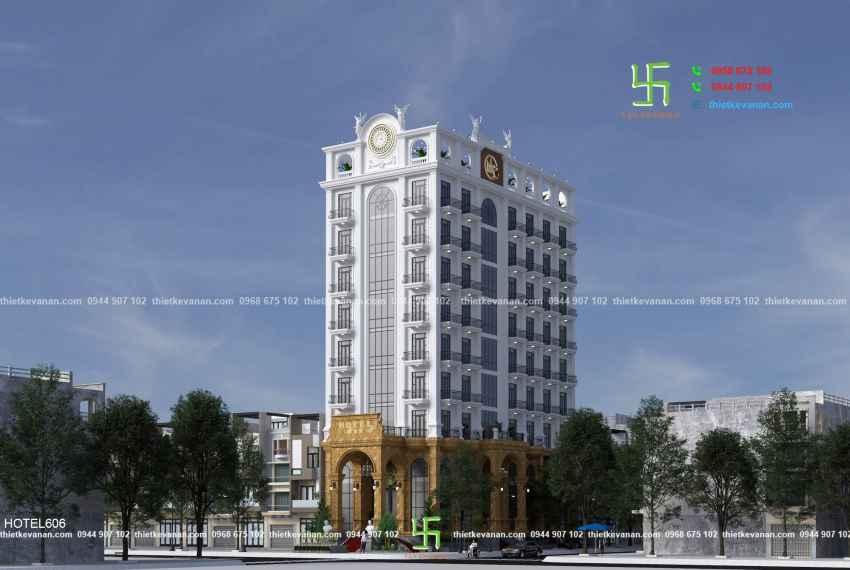 Thiết kế khách sạn 3 sao kiến trúc Châu Âu đẹp ngỡ ngàng tại Nha Trang HOTEL 6061