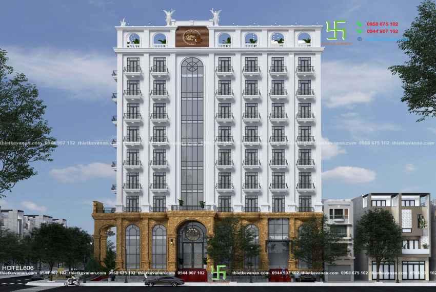 Thiết kế khách sạn 3 sao kiến trúc Châu Âu đẹp ngỡ ngàng tại Nha Trang HOTEL 6062