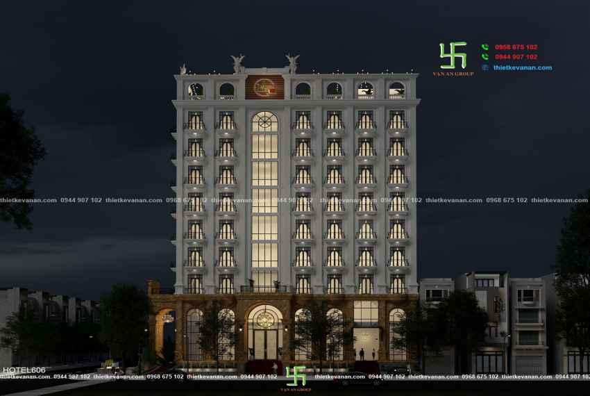 Thiết kế khách sạn 3 sao kiến trúc Châu Âu đẹp ngỡ ngàng tại Nha Trang HOTEL 6066