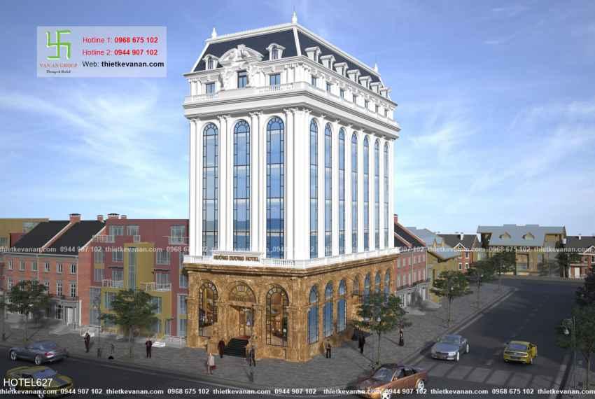 Thiết kế khách sạn 4 sao tân cổ điển Châu Âu đẹp lộng lẫy tại Phú Quốc HOTEL 6271