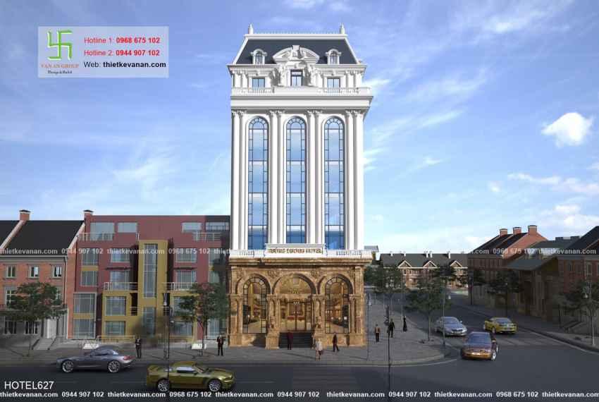 Thiết kế khách sạn 4 sao tân cổ điển Châu Âu đẹp lộng lẫy tại Phú Quốc HOTEL 6272