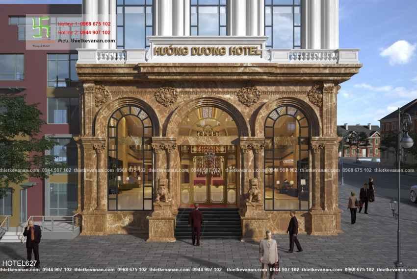 Thiết kế khách sạn 4 sao tân cổ điển Châu Âu đẹp lộng lẫy tại Phú Quốc HOTEL 6277