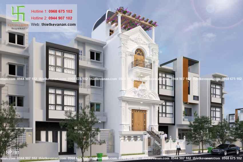 Thiết kế nhà phố 3 tầng đẹp lung linh tại Vũng Tàu 7812