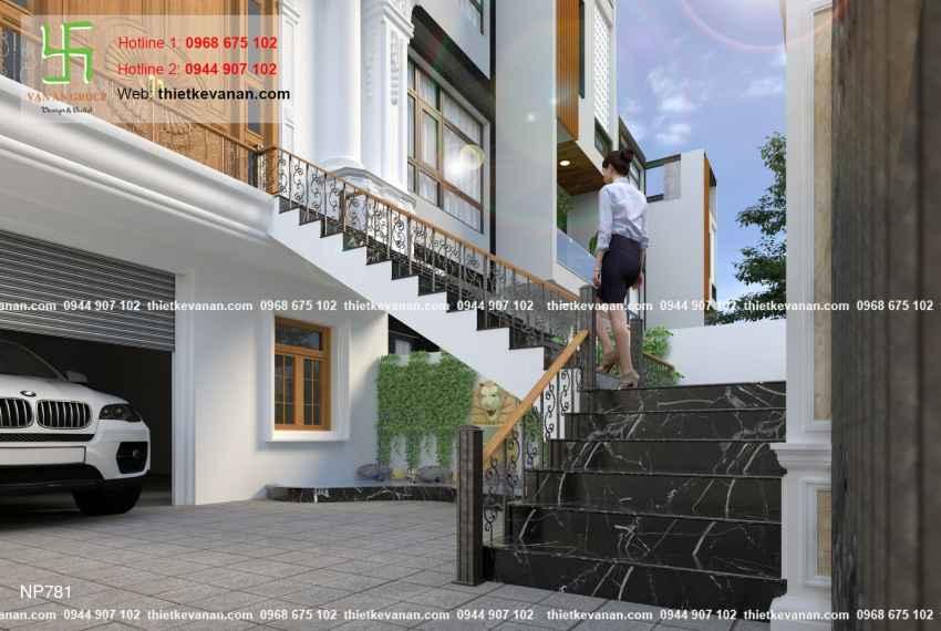 Thiết kế nhà phố 3 tầng đẹp lung linh tại Vũng Tàu 7814