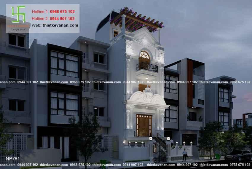 Thiết kế nhà phố 3 tầng đẹp lung linh tại Vũng Tàu 7817