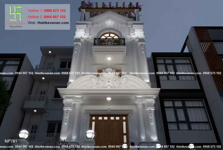 Thiết kế nhà phố 3 tầng đẹp lung linh tại Vũng Tàu 7818
