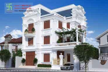 Thiết kế biệt thự 3 tầng đẹp lung linh BT 402