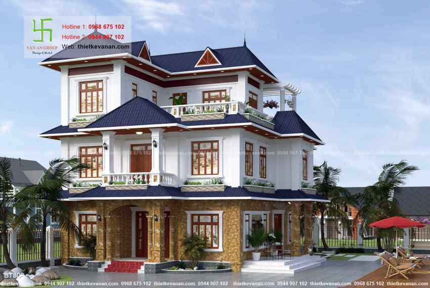 Thiết kế biệt thự nhà vườn đẹp cho Ông bà Thúy Hạ tại Cần Thơ BT 8061
