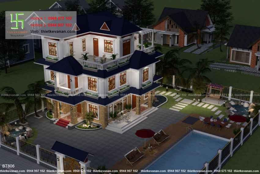 Thiết kế biệt thự nhà vườn đẹp cho Ông bà Thúy Hạ tại Cần Thơ BT 80610