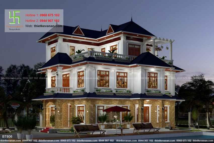 Thiết kế biệt thự nhà vườn đẹp cho Ông bà Thúy Hạ tại Cần Thơ BT 80611