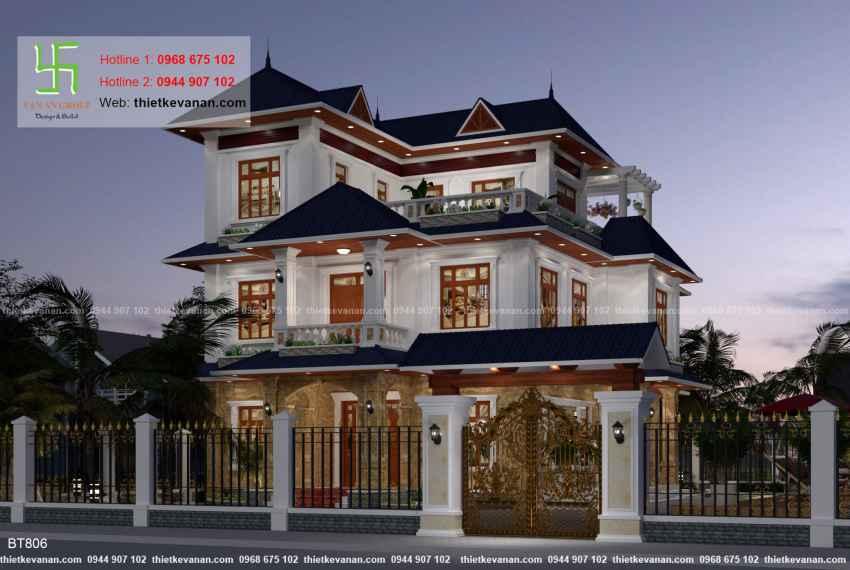 Thiết kế biệt thự nhà vườn đẹp cho Ông bà Thúy Hạ tại Cần Thơ BT 80612