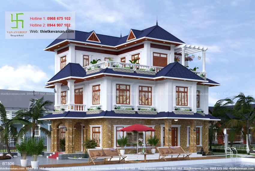 Thiết kế biệt thự nhà vườn đẹp cho Ông bà Thúy Hạ tại Cần Thơ BT 8064
