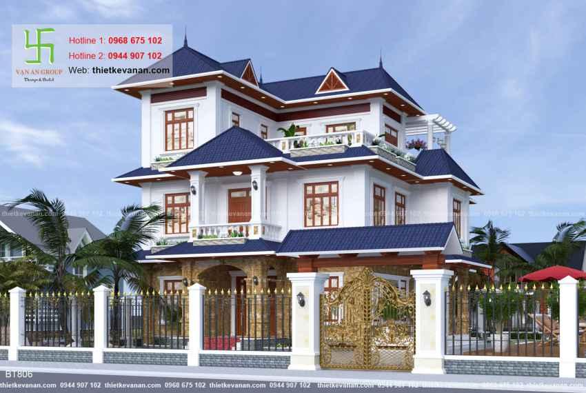 Thiết kế biệt thự nhà vườn đẹp cho Ông bà Thúy Hạ tại Cần Thơ BT 8065