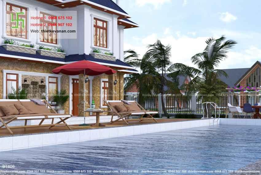 Thiết kế biệt thự nhà vườn đẹp cho Ông bà Thúy Hạ tại Cần Thơ BT 8066
