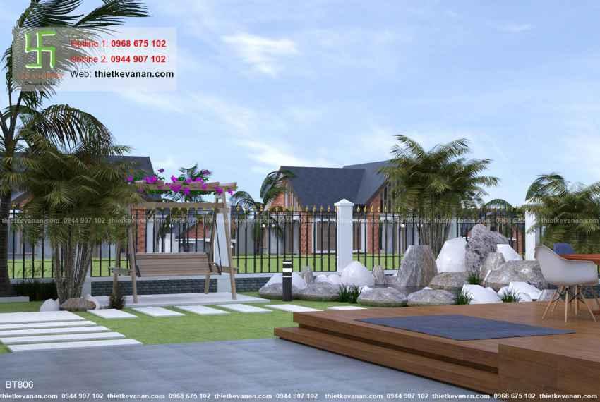 Thiết kế biệt thự nhà vườn đẹp cho Ông bà Thúy Hạ tại Cần Thơ BT 8067