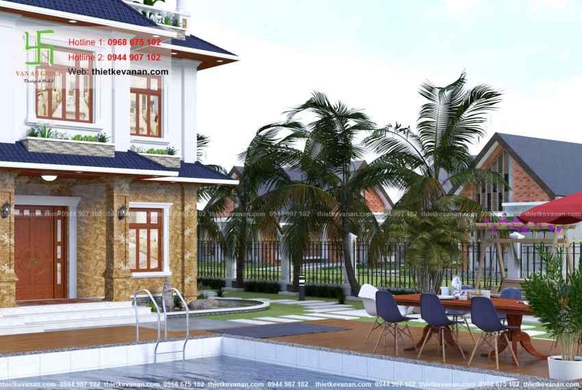 Thiết kế biệt thự nhà vườn đẹp cho Ông bà Thúy Hạ tại Cần Thơ BT 8068