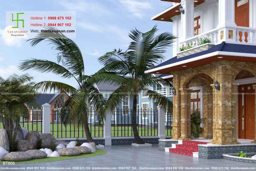 Thiết kế biệt thự nhà vườn đẹp cho Ông bà Thúy Hạ tại Cần Thơ BT 8069