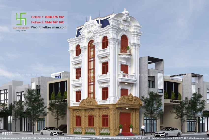 Thiết kế biệt thự tân cổ điển đẹp tại Thái Bình 7251