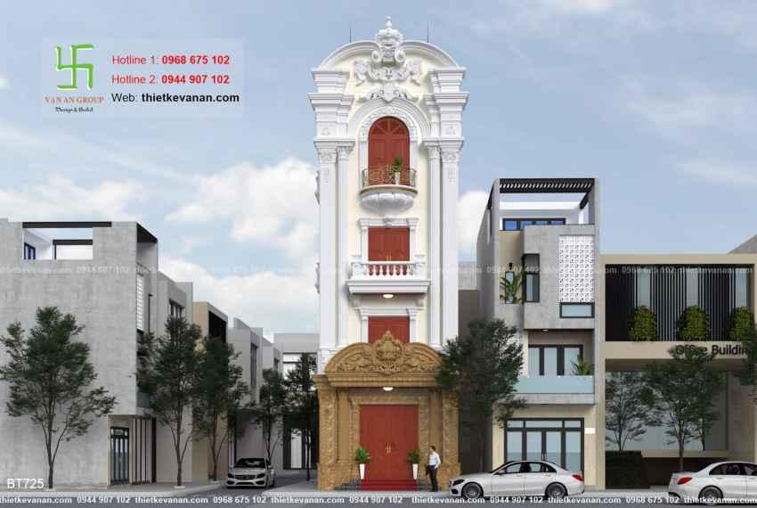Thiết kế biệt thự tân cổ điển đẹp tại Thái Bình 7252