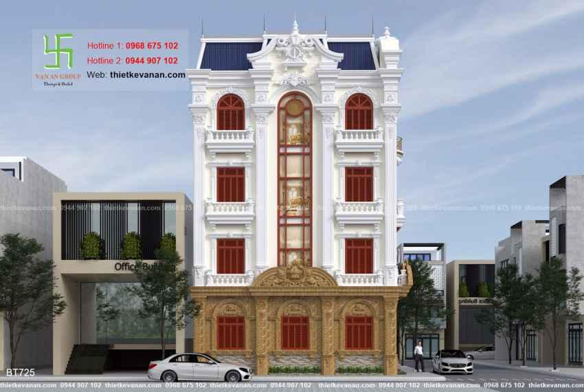 Thiết kế biệt thự tân cổ điển đẹp tại Thái Bình 7253