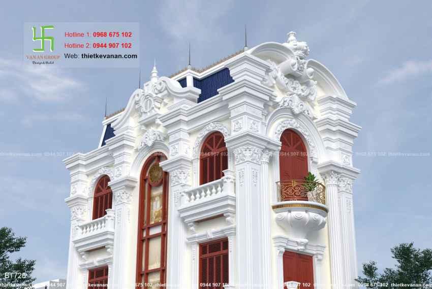 Thiết kế biệt thự tân cổ điển đẹp tại Thái Bình 7254
