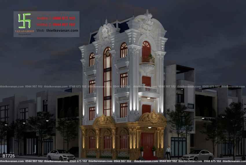 Thiết kế biệt thự tân cổ điển đẹp tại Thái Bình 7256