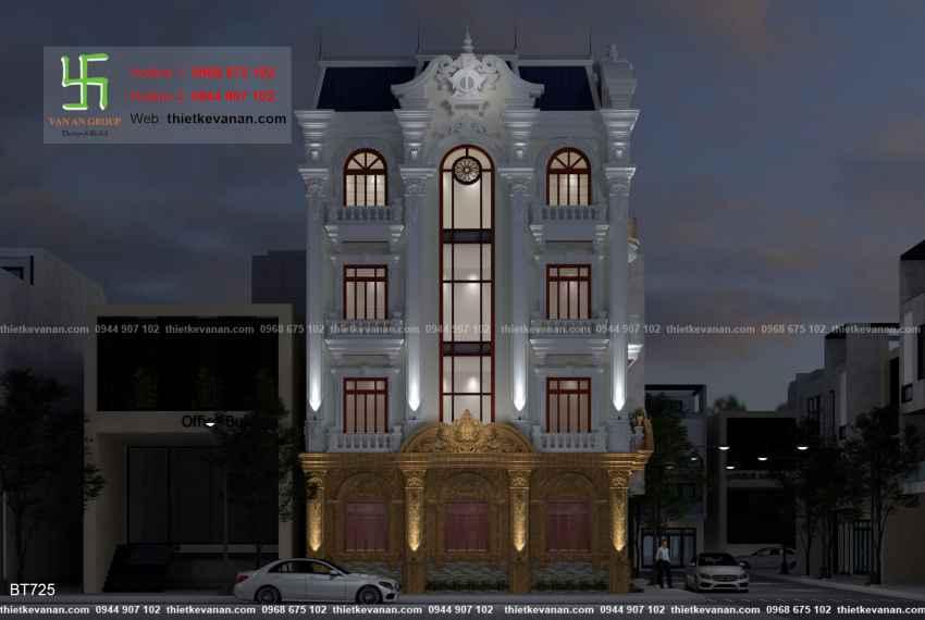 Thiết kế biệt thự tân cổ điển đẹp tại Thái Bình 7258