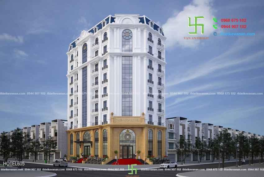 Thiết kế khách sạn sang trọng và đẳng cấp 3 sao THIÊN SƠN HOTEL tại Gia Lâm, Hà Nội HOTEL 6051