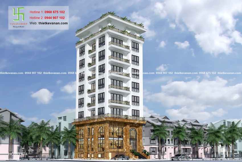 Thiết kế nhà nghỉ hiện đại đẹp lung linh tại tp Hồ Chí Minh HOTEL 6741