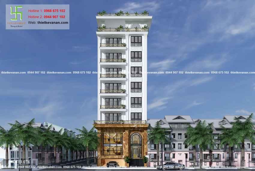 Thiết kế nhà nghỉ hiện đại đẹp lung linh tại tp Hồ Chí Minh HOTEL 6743