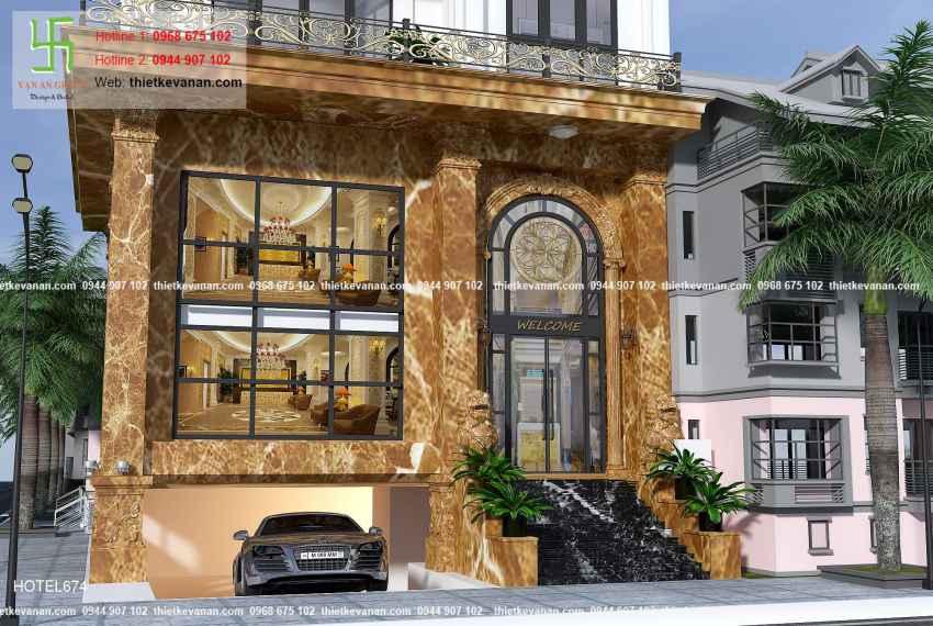 Thiết kế nhà nghỉ hiện đại đẹp lung linh tại tp Hồ Chí Minh HOTEL 6745