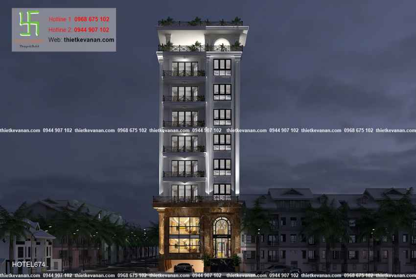 Thiết kế nhà nghỉ hiện đại đẹp lung linh tại tp Hồ Chí Minh HOTEL 6746