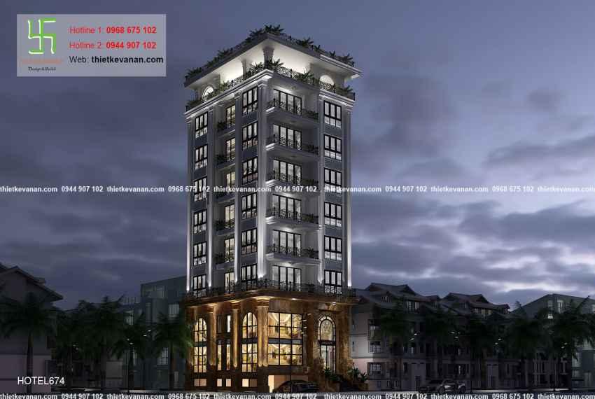 Thiết kế nhà nghỉ hiện đại đẹp lung linh tại tp Hồ Chí Minh HOTEL 6748