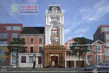 Thiết kế nhà phố đẹp lộng lẫy sang trọng NP 629