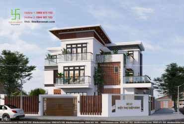 Thiết kế biệt thự hiện đại đẹp như mơ BT 892