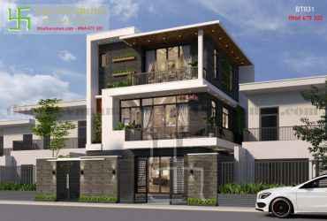 Thiết kế nhà đẹp kiến trúc hiện đại BT 931