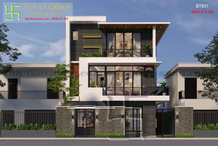 Thiết kế nhà đẹp kiến trúc hiện đại tại Thanh Khê, Đà Nẵng BT 9312