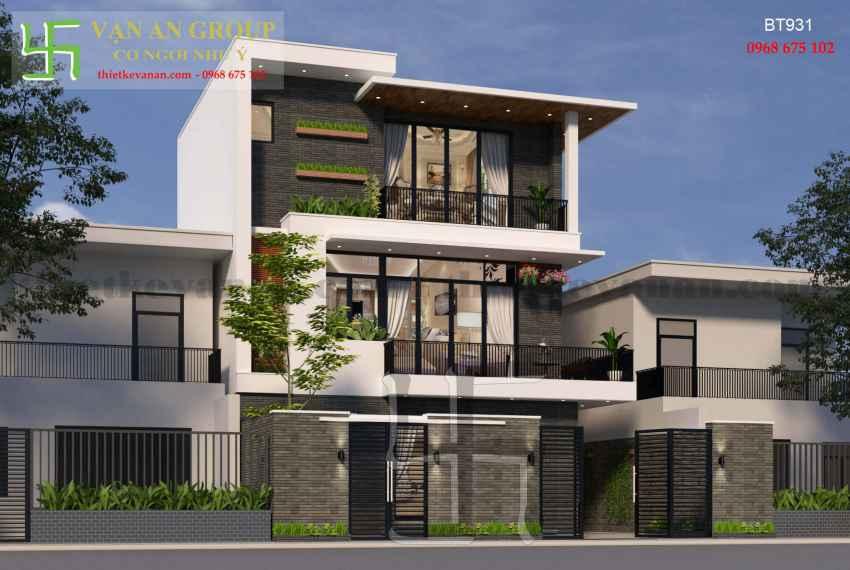 Thiết kế nhà đẹp kiến trúc hiện đại tại Thanh Khê, Đà Nẵng BT 9313