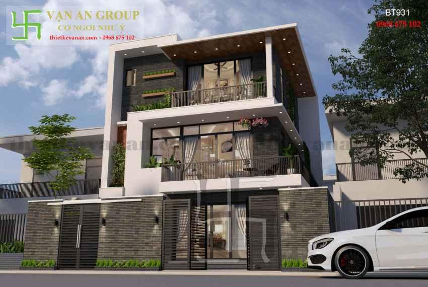 Thiết kế nhà đẹp kiến trúc hiện đại tại Thanh Khê, Đà Nẵng BT 9314