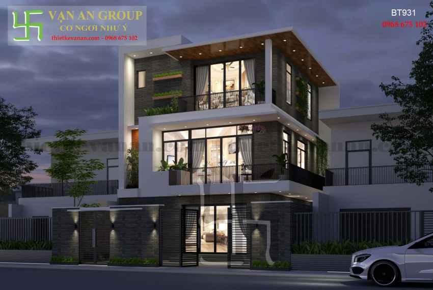 Thiết kế nhà đẹp kiến trúc hiện đại tại Thanh Khê, Đà Nẵng BT 9316