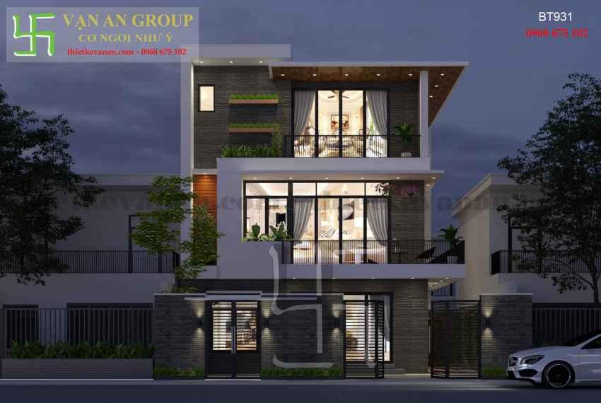 Thiết kế nhà đẹp kiến trúc hiện đại tại Thanh Khê, Đà Nẵng BT 9317