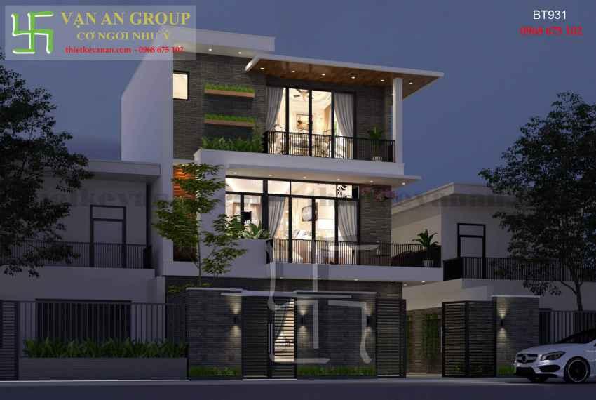 Thiết kế nhà đẹp kiến trúc hiện đại tại Thanh Khê, Đà Nẵng BT 9318