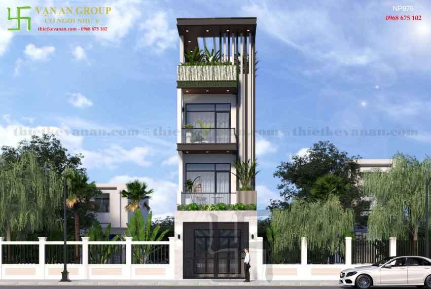 Nhà phố 4 tầng đẹp lung linh tại Tân Thịnh, Hòa Bình NP 9761