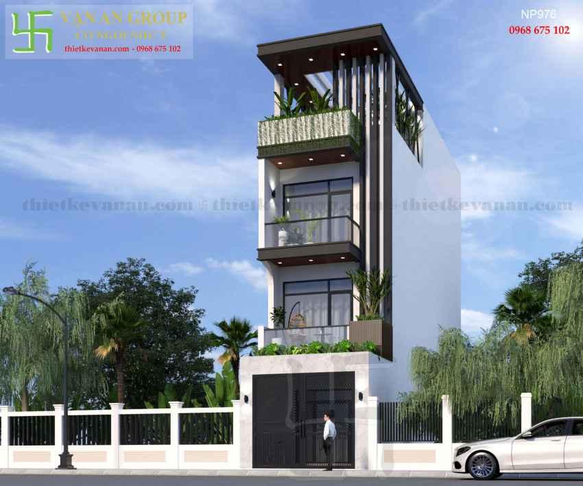 Nhà phố 4 tầng đẹp lung linh tại Tân Thịnh, Hòa Bình NP 9763