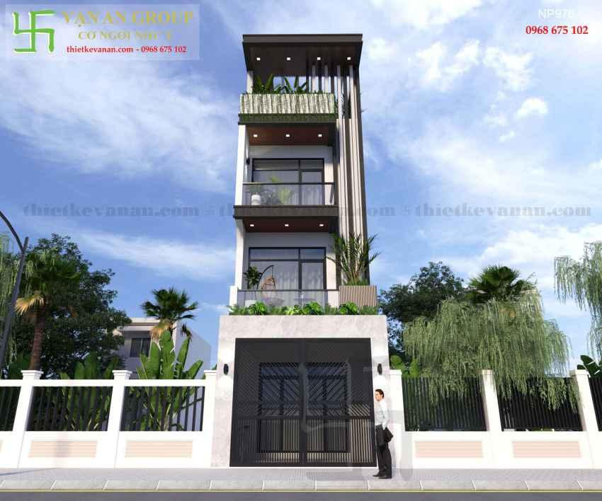 Nhà phố 4 tầng đẹp lung linh tại Tân Thịnh, Hòa Bình NP 9765