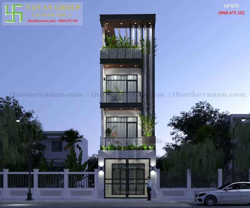 Nhà phố 4 tầng đẹp lung linh tại Tân Thịnh, Hòa Bình NP 9768